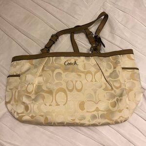 Like New Cream Coach Purse
